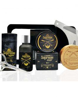 Bartpflege Set von Bartstoppel© Supreme mit Zedernholz Bartwachs & Bartöl