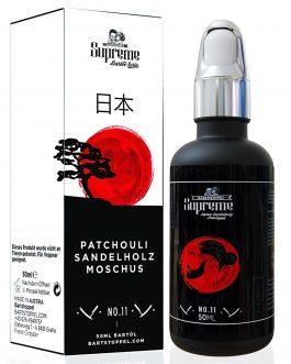 Bartöl-Duft Japan Patchouli mit Vanille – Note von Bartstoppel© Supreme